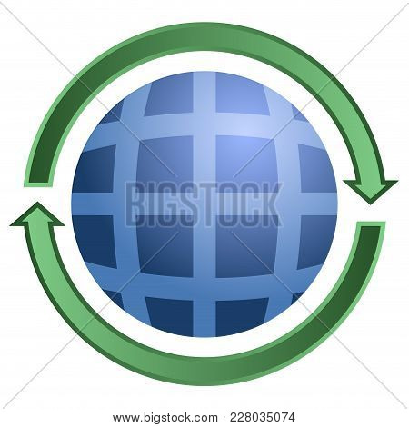 Isolated Globe Icon Image. Vector Illustration Design
