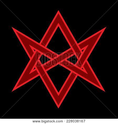 The Horns Of Asmodeus, Or The Horned Head (symbol Of The Horned God), «hexagrammum Mysticum» (unicur