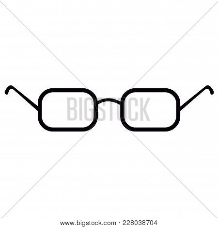 Isolated Glasses Icon Image. Vector Illustration Design