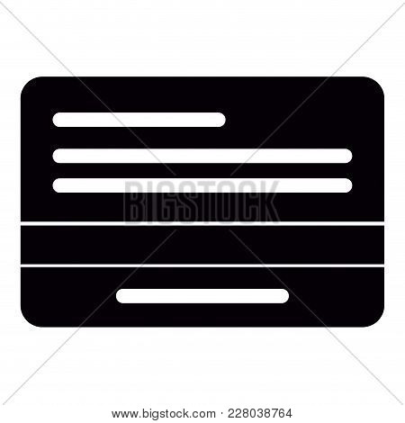 Isolated Credit Card Icon. Vector Illustration Design