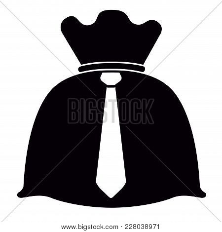Money Bag With A Necktie. Vector Illustration Design