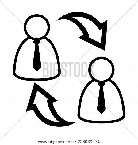 Isolated Teamwork Concept Icon. Vector Illustration Design