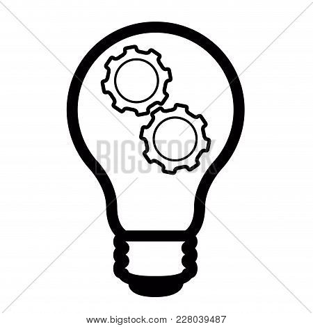 Isolated Lightbulb Icon Idea Concept. Vector Illustration Design