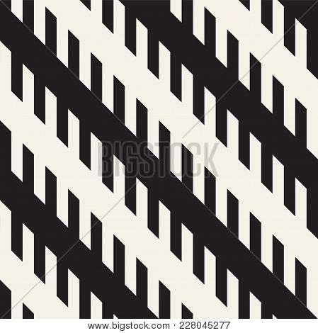 Repeating Slanted Stripes Modern Texture. Simple Regular Lines Background. Monochrome Geometric Seam