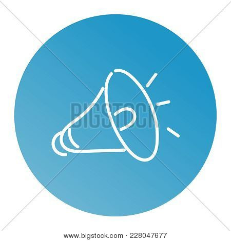 Loudspeaker Icon. Megaphone Sign. Announcement Symbol. Thin Line Icon On White Background. Vector Il