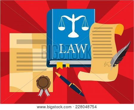 Law And Justice, Concept Judgment. Vector Illustration