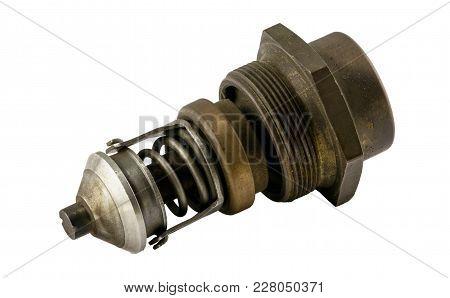 Antique Vintage American Automobile Antique Vintage American Automobile Brass Threaded Style Thermos