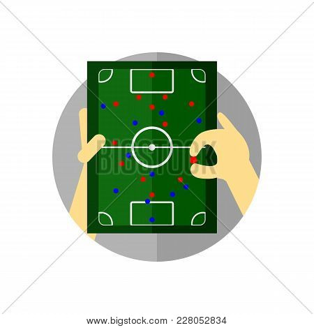 Football Tactical Briefing Strategy Vector Illustration Graphic Design