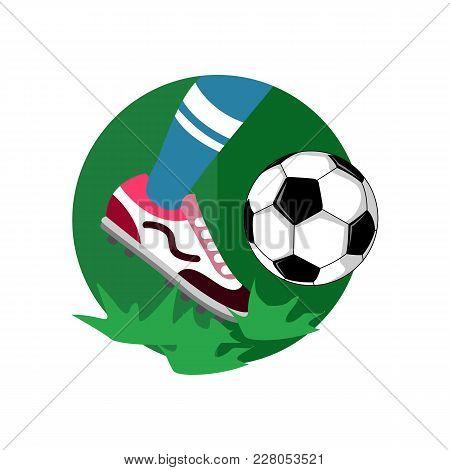 Ball Dribbling Football Vector Illustration Graphic Design
