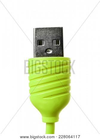 Micro usb cable. Usb isolated on white background