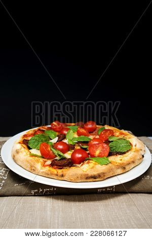 tasty pizza on a the table