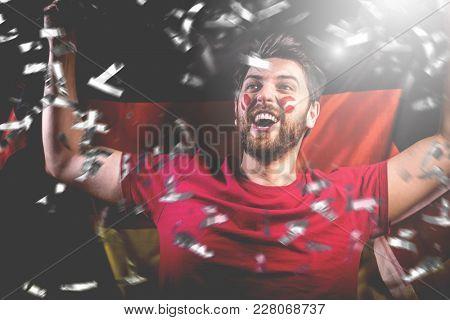 German fan celebrating