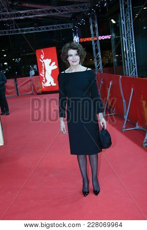 Fanny Ardant attends the 'Shock Waves' premiere during the 68th  Film Festival Berlin at Zoo Palast on February 19, 2018 in Berlin, Germany.