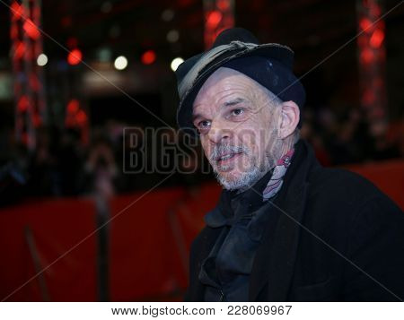 Denis Lavant attends the '3 Days in Quiberon' (3 Tage in Quiberon) premiere during the 68th  Film Festival Berlin at Berlinale Palast on February 19, 2018 in Berlin, Germany.