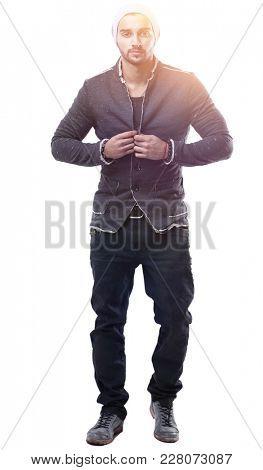 portrait of stylish young men