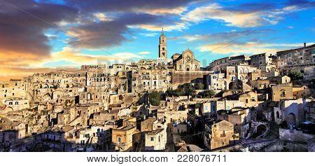 Landmarks of Italy - ancient city Matera. Basilicata