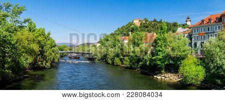 Murinsel Bridge In Graz