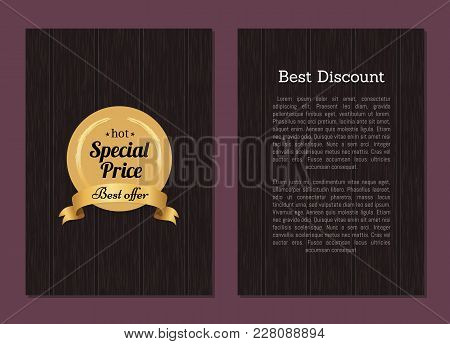Best Discount Hot Special Price Best Offer Advertisement Poster With Place For Text On Wooden Backdr