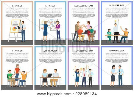 Strategy And Successful Team, Business Idea And Office Work, Working Task, Text Samples And Letterin