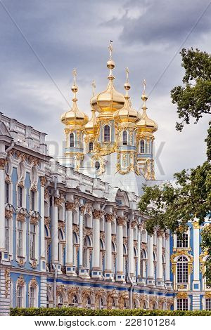 House Orthodox Church Of Resurrection Of Christ In Catherine's Park In Pushkin, St. Petersburg, Russ