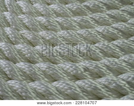 Background Texture Rope Synthetic White Wicker Many Rows