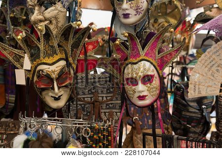 Stand With Venezian Mask In Verona - Italy