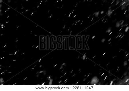 Snow Hi-res Texture For Designers Works - Abstract Photo Texture Of The Real Snow On The Black Backg