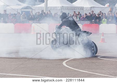 Minsk, Belarus - April 24, 2016 Hog. Harley Owners Group Opening Driving Season Show. Professional R