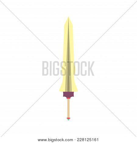 Sword Fantasy Vector Medieval Weapon Illustration Isolated Blade Battle. War Steel Metal Dagger Mili