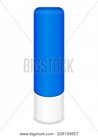 Lip Balm Stick On A White Background. Vector Illustration.