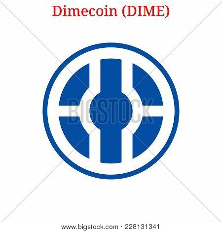 Vector Dimecoin (dime) Digital Cryptocurrency Logo. Dimecoin (dime) Icon. Vector Illustration Isolat