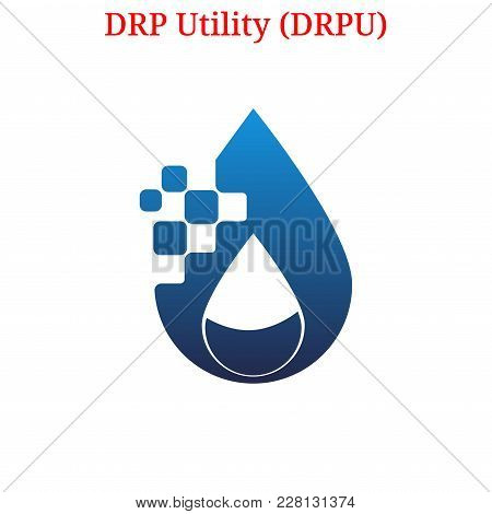 Vector Drp Utility (drpu) Digital Cryptocurrency Logo. Drp Utility (drpu) Icon. Vector Illustration