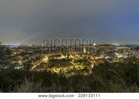 Night Panorama Of Rome