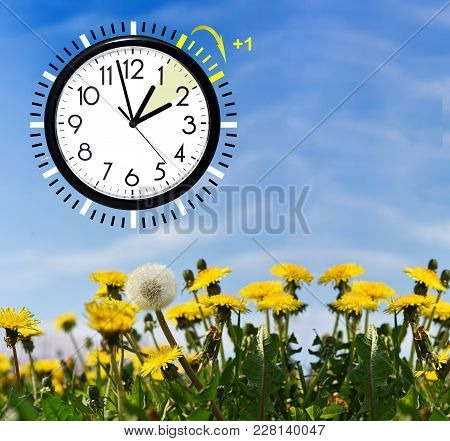 Daylight Saving Time. Change Clock To Summer Time.