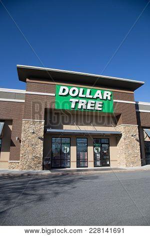 Dollar Tree Store Entrance