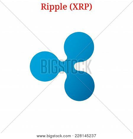 Vector Ripple (xrp) Digital Cryptocurrency Logo. Ripple (xrp) Icon. Vector Illustration Isolated On