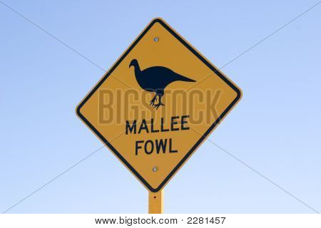 Australian Mallee Fowl Sign