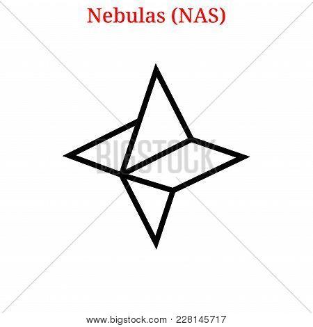 Vector Nebulas (nas) Digital Cryptocurrency Logo. Nebulas (nas) Icon. Vector Illustration Isolated O