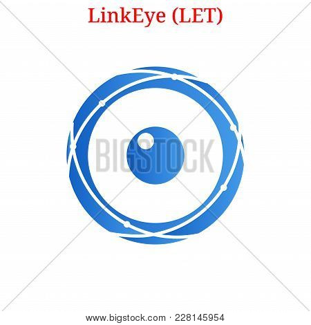 Vector Linkeye (let) Digital Cryptocurrency Logo. Linkeye (let) Icon. Vector Illustration Isolated O