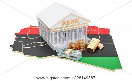 Banking System In Libya Concept. 3d Rendering Isolated On White Background