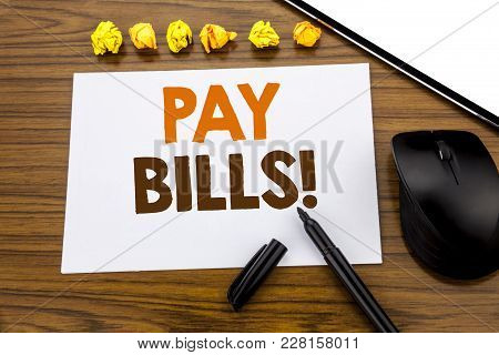 Conceptual Hand Writing Text Showing Pay Bills. Business Concept For Finance Paying Online Written O