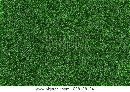 Horizontal Front View Of Small Green Grass Leaves Natural Pattern Texture Background