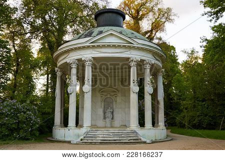 Potsdam, Germany - May 28, 2014: Garden House In Sanssouci Park At Sunset