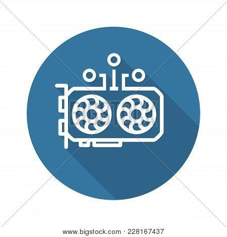 Gpu Mining Icon. Modern Computer Network Technology Sign. Digital Graphic Symbol. Concept Design Ele