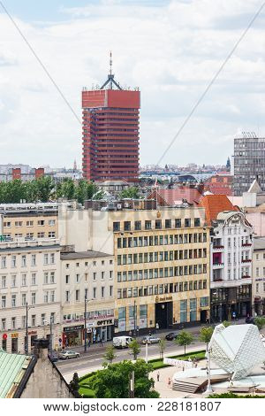 Poznan, Poland - June 28, 2016: View From Tower On Economic Academy And Buildings And Offices In Pol