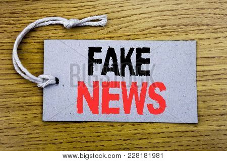 Conceptual Hand Writing Text Caption Showing Fake News. Business Concept For Hoax Journalism Written