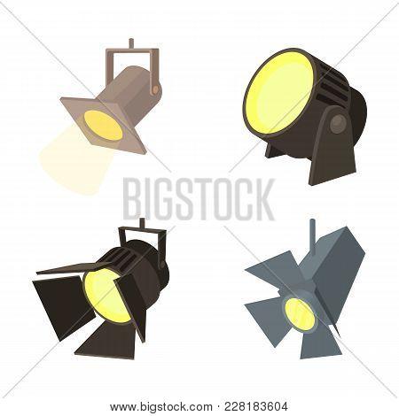 Spotlight Icon Set. Cartoon Set Of Spotlight Vector Icons For Web Design Isolated On White Backgroun