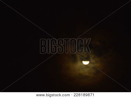 Half Moon Cover By Cloud In The Night