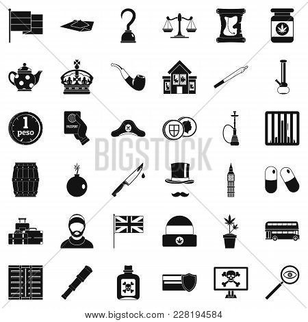 Fault Icons Set. Simple Set Of 36 Fault Vector Icons For Web Isolated On White Background
