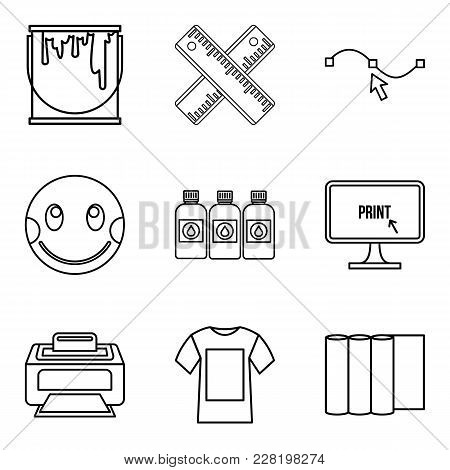 Pupil Icons Set. Outline Set Of 9 Pupil Vector Icons For Web Isolated On White Background